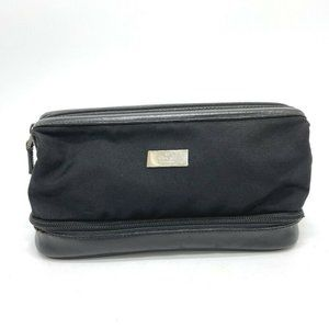 GUCCI 014.1138 Cosmetic Pouch Case Nylon x Leather